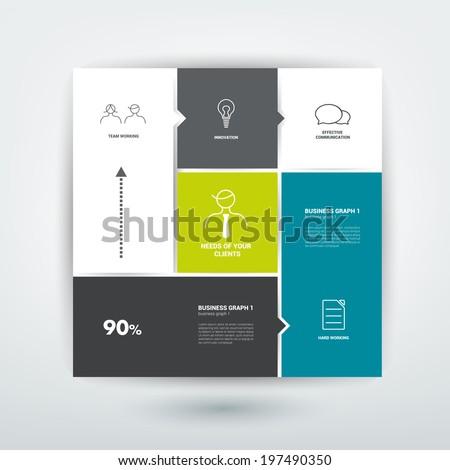 square template diagram flat