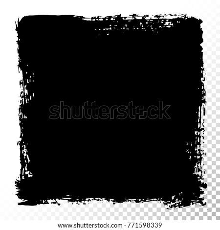 square text box black acrylic