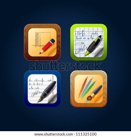 Square web app icon drawing tools