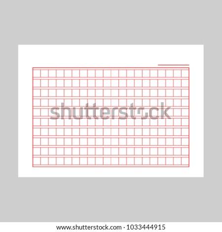 squared manuscript paper vector file