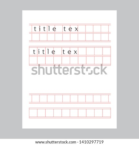 squared manuscript paper vector, title tex design