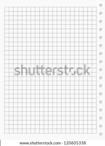 Squared paper sheet background