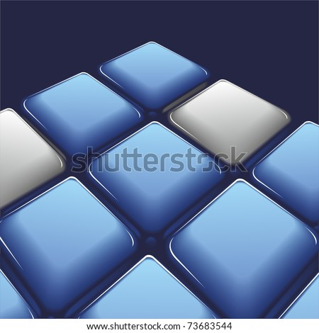 Squares of blue and gray - tile. Vector.