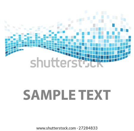 squares texture blue fish in vector - stock vector