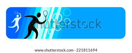 Squash sport banner vector illustration