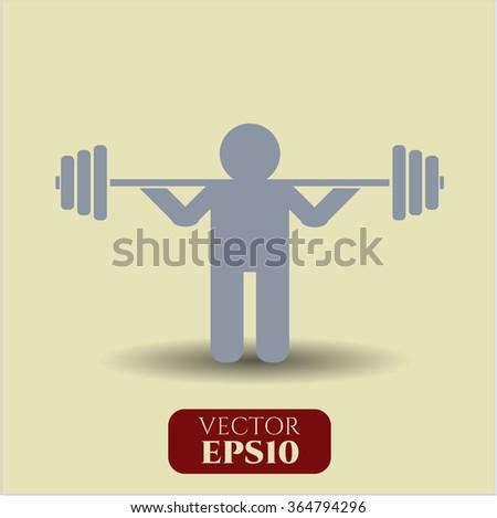 Squat icon or symbol