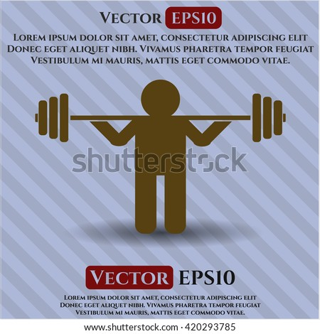 Squat vector icon