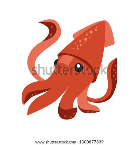 Squid emoji vector
