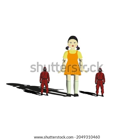 squid game character illustration vector image