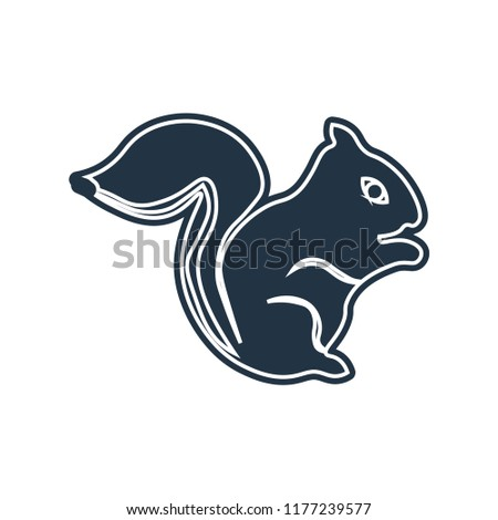 squirrel icon vector isolated