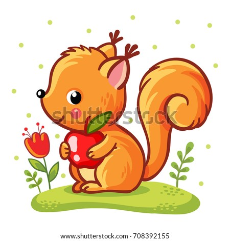 squirrel sitting on a meadow