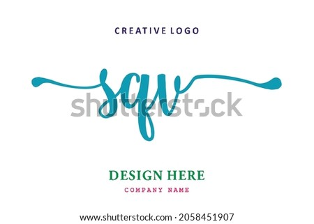 SQV lettering logo is simple, easy to understand and authoritative