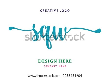 SQW lettering logo is simple, easy to understand and authoritative