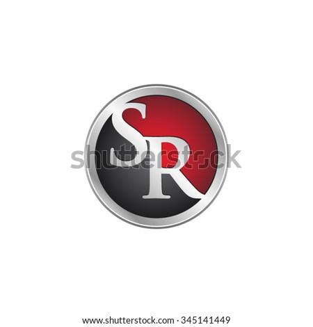 sr initial circle logo red