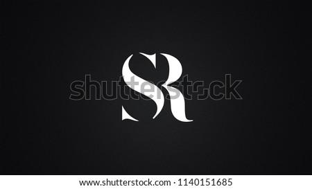 SR Letter Logo Design Template Vector Stock fotó ©