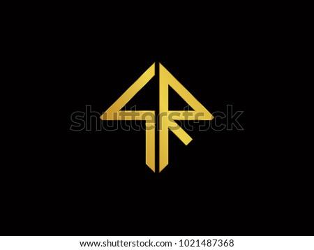 sr square shape gold color logo