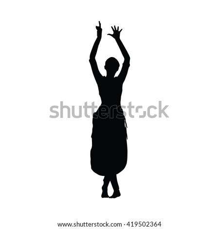 Vector Images Illustrations And Cliparts Sri Lanka Dancing Woman Kandy Dancer Vector Silhouette Slim Beautiful Girl Dancing Traditional Dance Hqvectors Com
