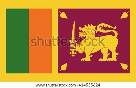 Sri Lanka flag vector graphics