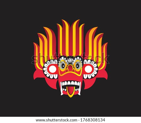 Sri Lankan Traditional Devil Mask Stok fotoğraf ©