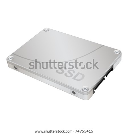 SSD, solid-state drive, vector eps 8