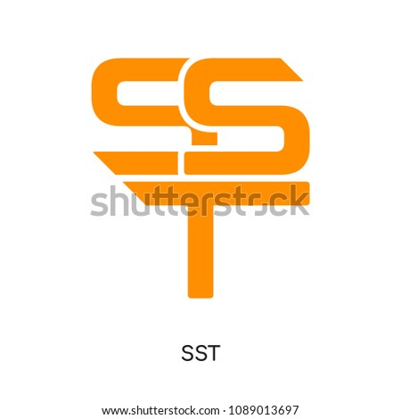 sst logo isolated on white