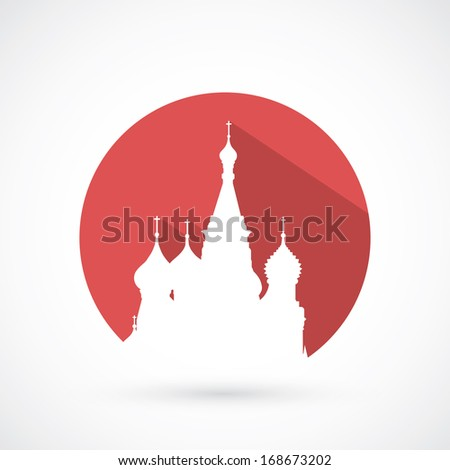 St Basil cathedral in Moscow vector illustration