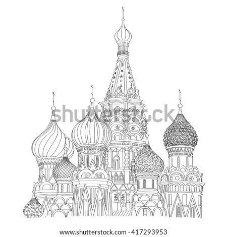 st basil's cathedral on red