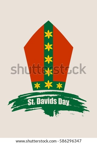 st davids day greeting card