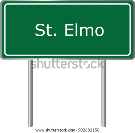 st elmo   illinois   road sign