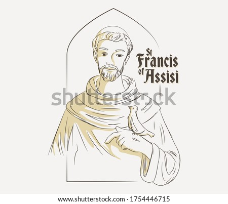 St Francis of Assisi vector illustration Foto stock ©