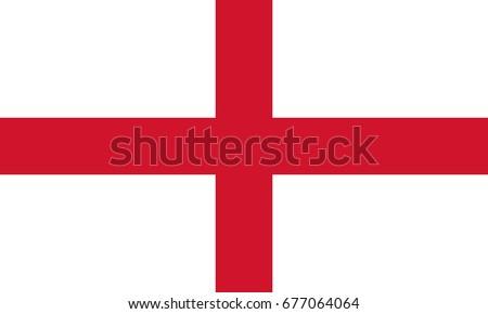 St.George England Flag. Vector.