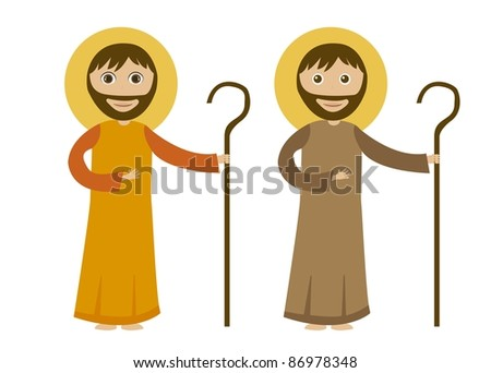 st joseph cartoon isolated