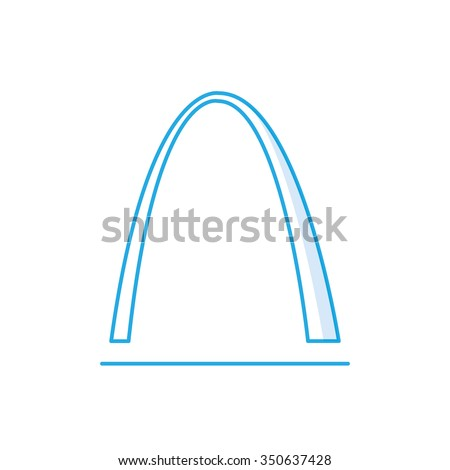 st louis arch icon  famous