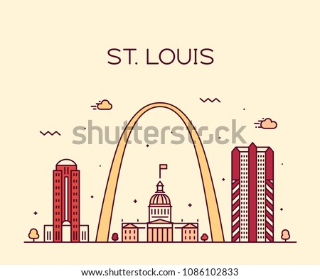 st louis city skyline