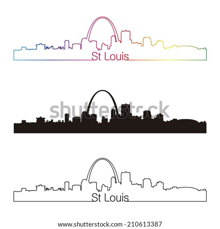 st louis skyline linear style