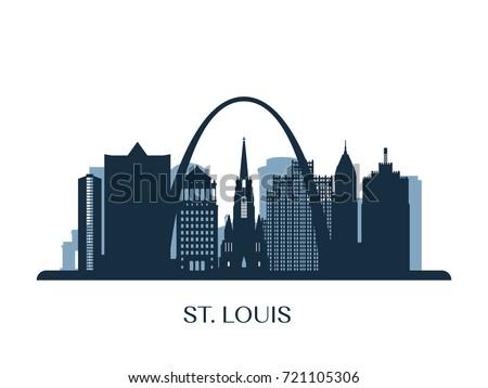 st louis skyline  monochrome
