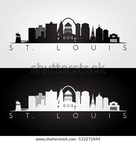 st louis usa skyline and