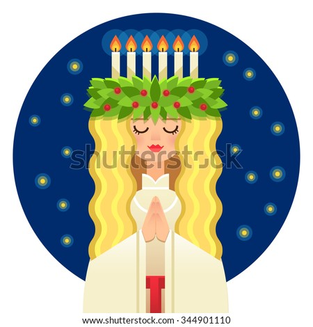 st lucy's day vector