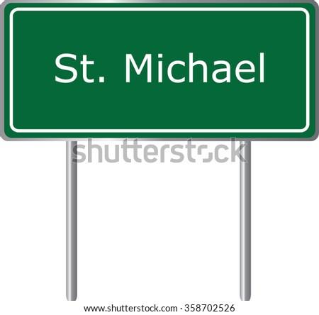 st michael  alaska  road sign