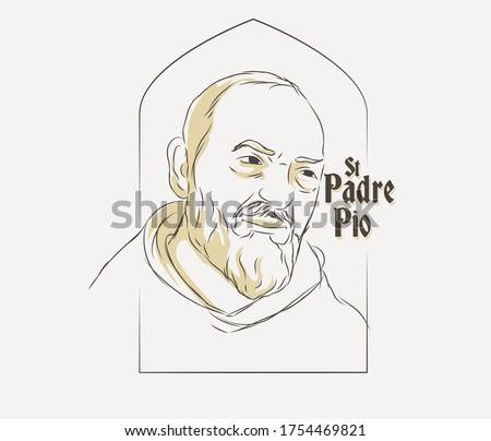 St. Padre Pio vector illustration Foto stock ©