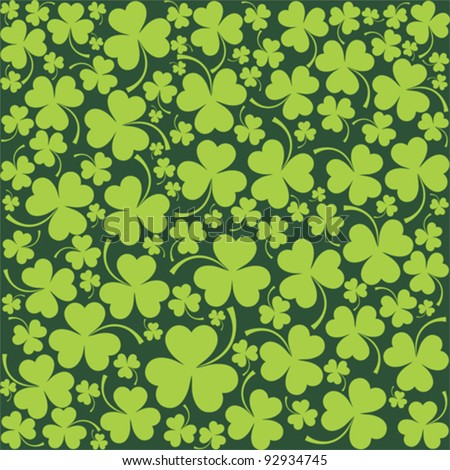St. Patrick's day background in green colors. Seamless pattern. Vector illustration.