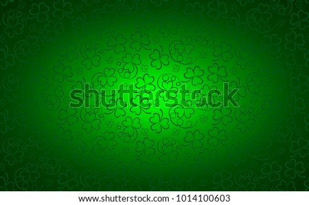 St. Patrick's day background in green colors. Vector image.