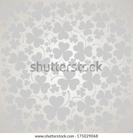 St. Patrick's day background in grey colors. Seamless pattern. Vector illustration.