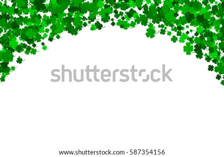 St. Patrick's Day background made of four leaf clover. St. Patrick's Day vector illustration/ EPS10