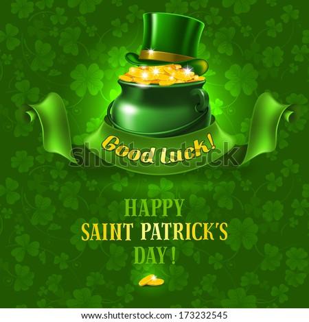 St.Patrick's Day background. Vector illustration