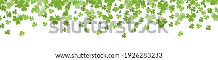 St. Patrick's Day banner .Template for your design with clover, shamrock. Vector illustration Stock photo ©