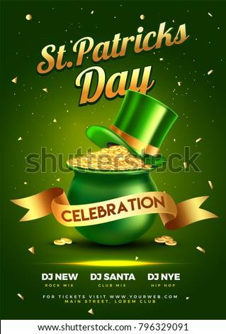 St. Patrick's Day celebration background.