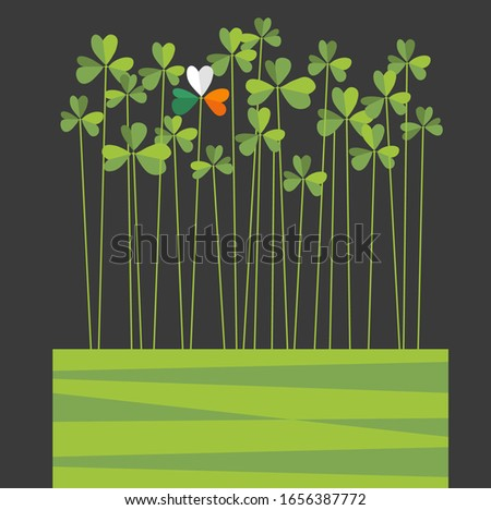 st patrick's day design with