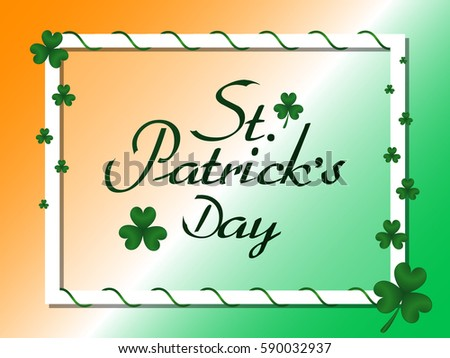 st patricks border art green vector decorative borders with clovers download free