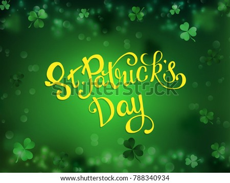 St. Patrick's Day. Greeting card with a St. Patrick's Day. Vector illustration